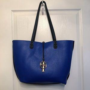 BCBG Reversible Black/Blue Handbag